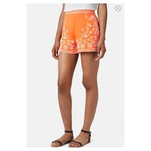 NWT Topshop Trailing Flowers Embroidered Shorts